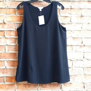 NWT Lined Crepe Tank Top